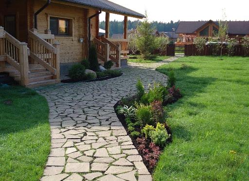 каменные садовые дорожки